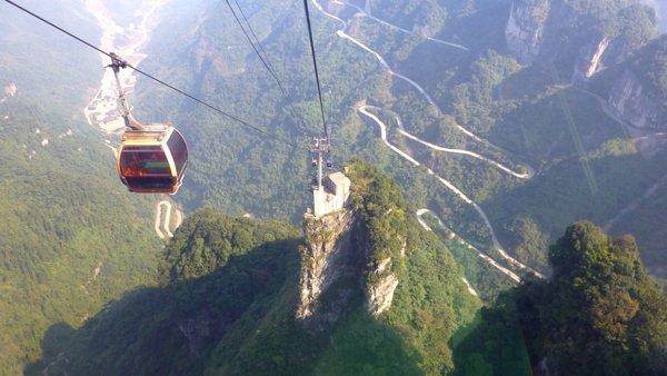 Канатная дорога в парке Чжанцзяцзе, Китай