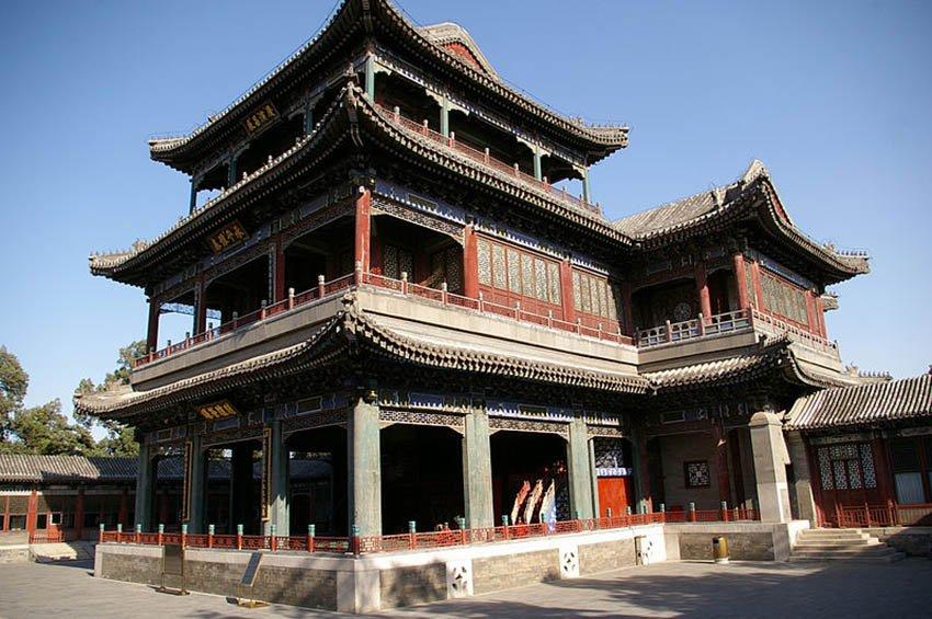 """Дэхэюань (""""Дворец добродетелей и гармонии""""), Китай, дворец Ихэюань"""