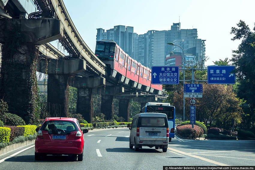 Транспорт в городе Чунцин, Китай