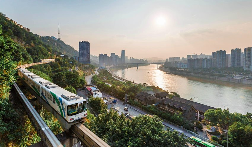 Транспорт в городе Чунцин в Китае