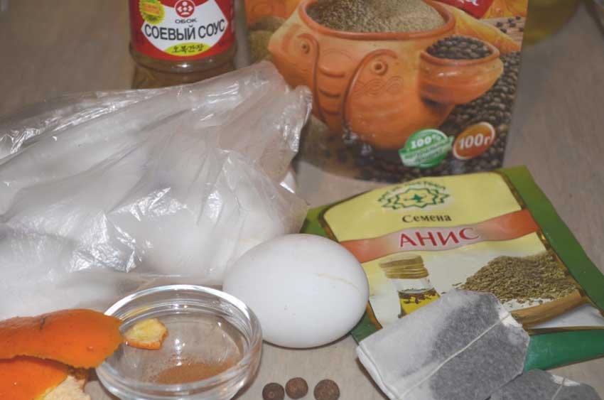 Чайные мраморные яйца - пошаговый рецепт
