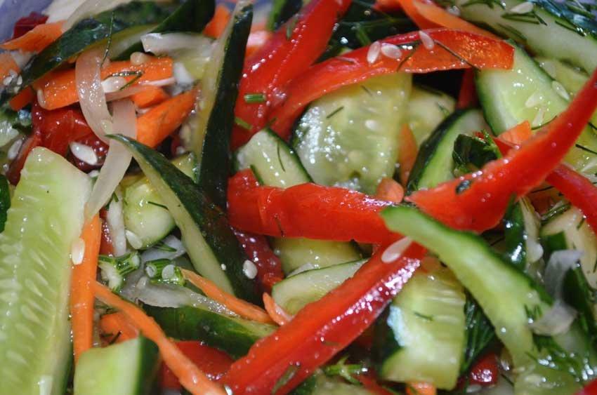 Салат из битых огурцов по Китайски. Пай Хонг Гва