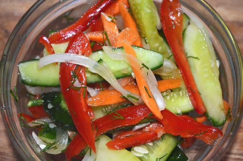 Салат из битых огурцов по-китайски