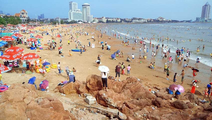 Пляж Циндао в Китае