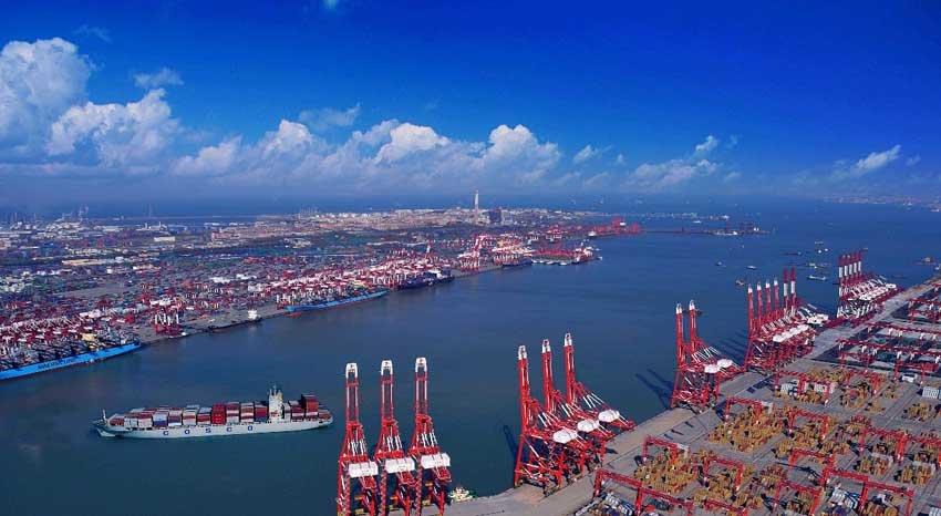 Портовая зона Циндао в Китае