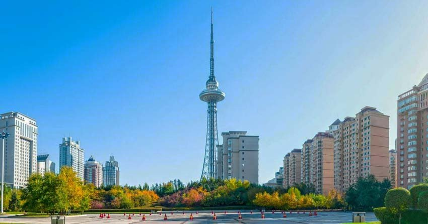 Башня дракона - телебашня в Харбине, Китай