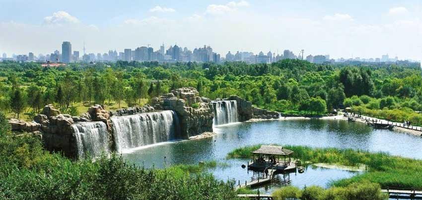Солнечный остров - парк в Харбине, Китай