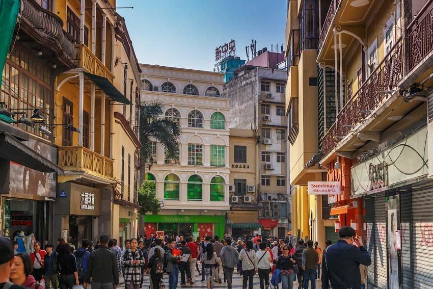 Старый город в Макао, Китай