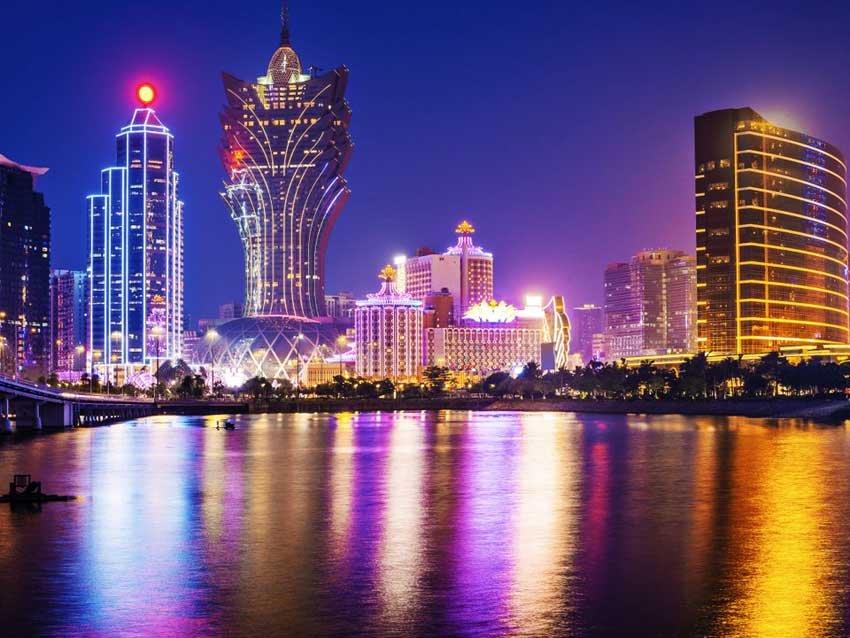 Вид на Макао с воды, Китай