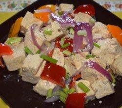 Китайская кухня: тофу жаренный с овощами - пошаговый рецепт