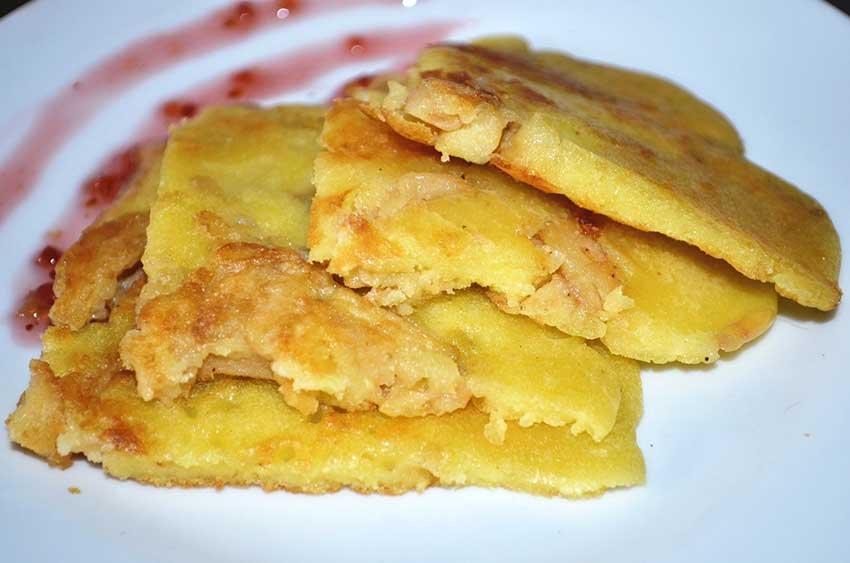 Китайские молочно-яичные блинчики с яблоком - пошаговый рецепт