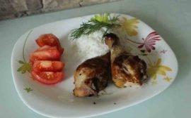 Куриные голени в маринаде из соевого соуса и меда - пошаговый рецепт