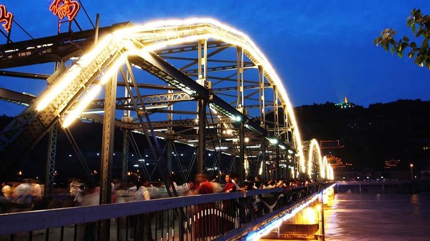 Достопримечательности Ланьчжоу - мост Чжуншань