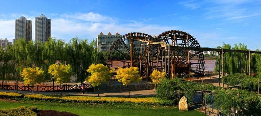 Достопримечательности Ланьчжоу - сад Водяных колес