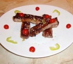 Свиные ребрышки, запеченные в соусе Чар Сиу - пошаговый рецепт