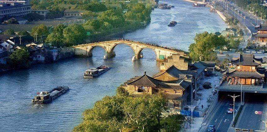 Гранд-канал Пекин-Ханчжоу в Китае